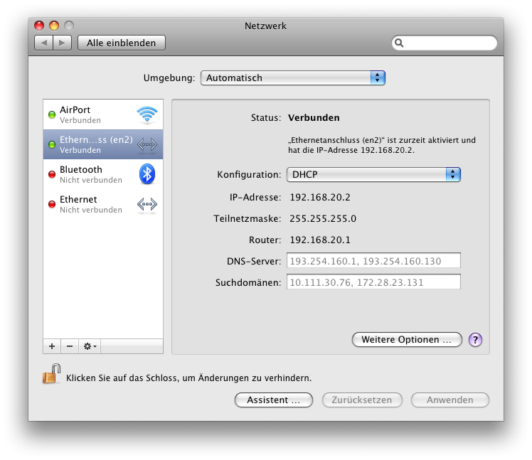 Tethering / MacBook