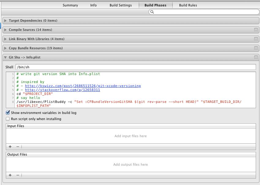xcode-git-sha-info-plist